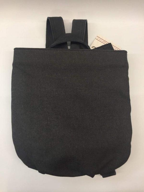 תיק נשים עור משולב בד - תיק גב דגם 6020