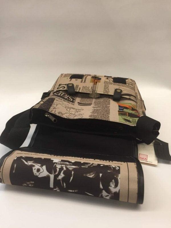 תיק מאצ'ו בד מודפס דגם 6021